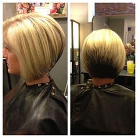 haircut reverse line 2013 reverse a line stacked wavy bob haircut short