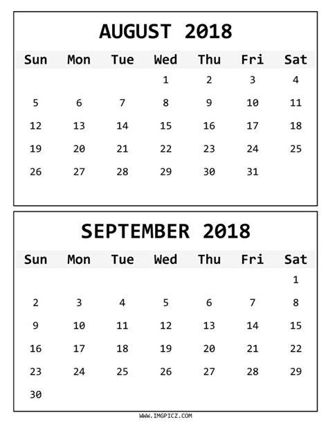 printable calendar september 2017 to august 2018 august september 2018 calendar printable journalingsage com