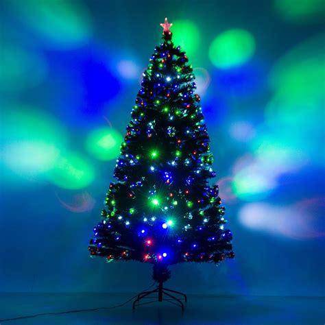 homcom 7 artificial holiday decoration light up christmas