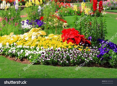 flower garden pic flower garden background stock photo 93855559