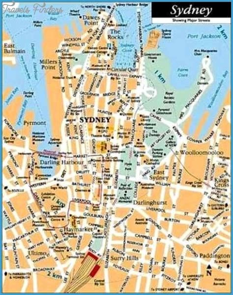 tourist map australia sydney map tourist attractions travelsfinders