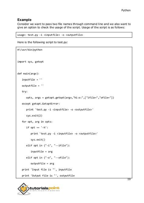 Tutorial Python Getopt   python tutorial