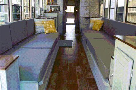 students convert  school bus   amazing diy
