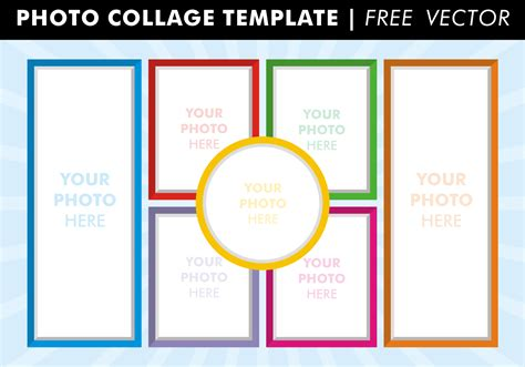 template free photo collage templates free vector free vector