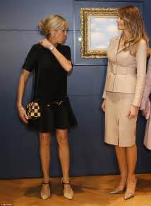 Radeva Dress melania meets brigitte macron daily mail