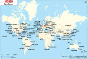 world international airports map maps