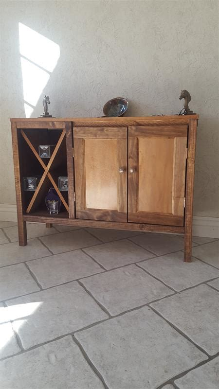 How To Build A Record Cabinet by Diy Wooden Sideboard Record Cabinet With Wine Rack