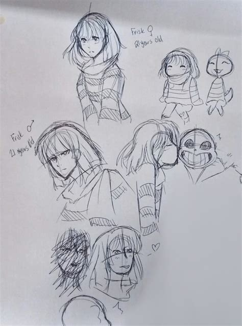 undertale sketchbook undertale frisk sketches by maxx2dxtreame on deviantart