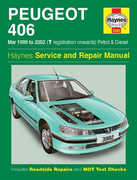 automotive maintenance light repair books haynes workshop car repair manual peugeot 406 petrol