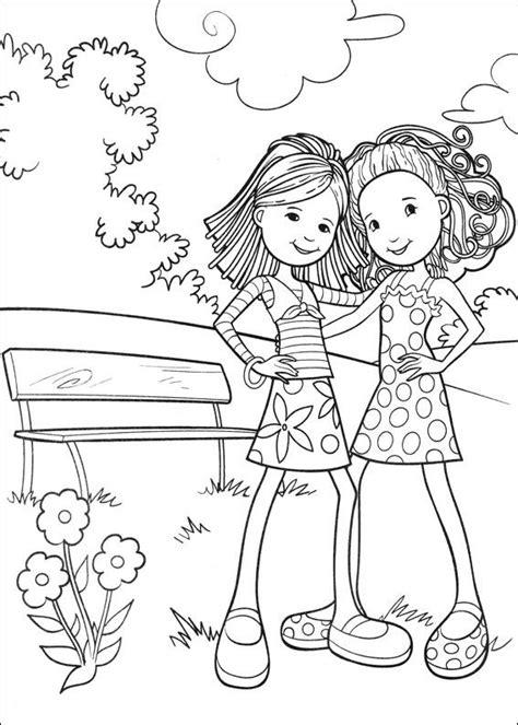 coloring pages kid n fun groovy girls kids n fun coloring page kleurplaat dutch