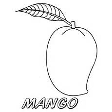 Mango Coloring Pages The Delicious sketch template