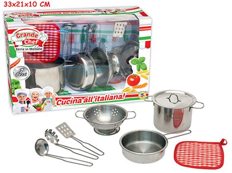 cucina all italiana cucina all italiana set pentoline in metallo con presine