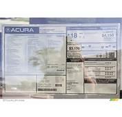Acura Window Stickers Kamos Sticker