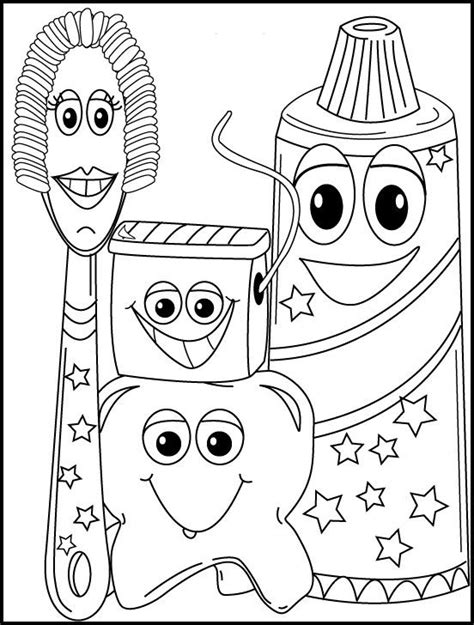 dental hygiene coloring page teeth pinterest