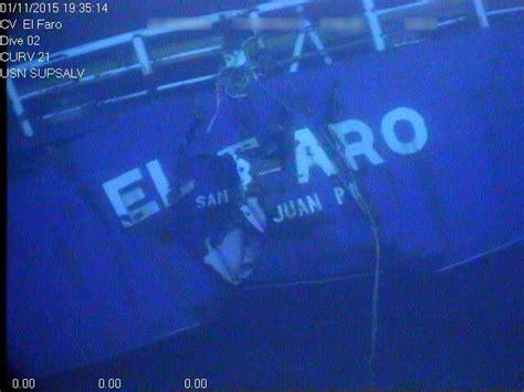 el faro video and photos of sunken cargo ship el faro released