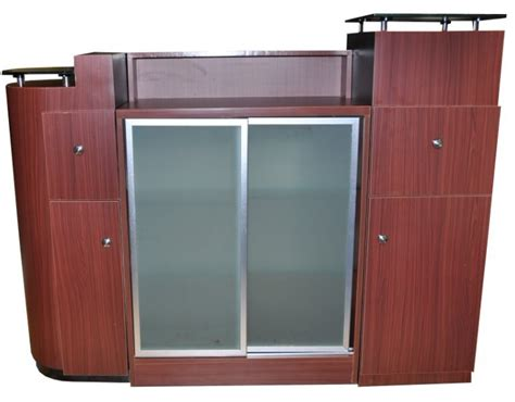 Hunter Reception Desk Retail Glass Display Reception Desk With Display