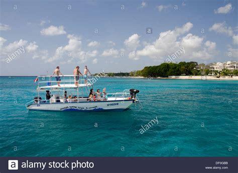 glass bottom boat tours antigua glass bottom boat caribbean stock photos glass bottom