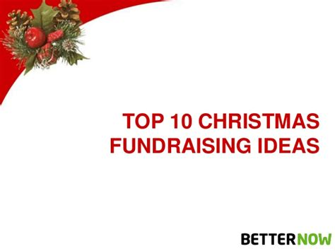 top 10 christmas fundraising ideas