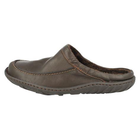 mens leather mule slippers mens clarks kite vasa leather mule slippers ebay