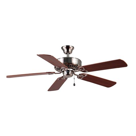 ceiling fan lowes shop harbor 52 in brushed nickel ceiling fan energy