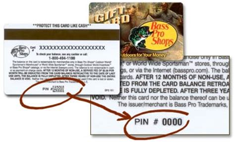 Pin Number On A Gift Card - bass pro shops online shopping