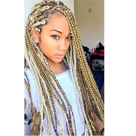 box breads with black amd blond 1000 images about box braids on pinterest big box