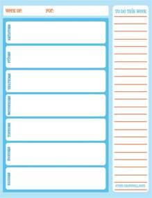 weekly calendar print printable 2017 calendars