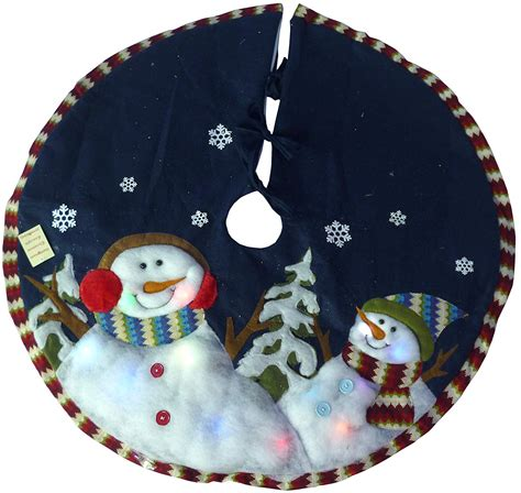 amazoncom snowman christmas snowman tree skirts