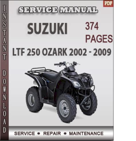small engine repair manuals free download 2002 suzuki grand vitara interior lighting suzuki ltf 250 ozark 2002 2009 factory service repair manual down