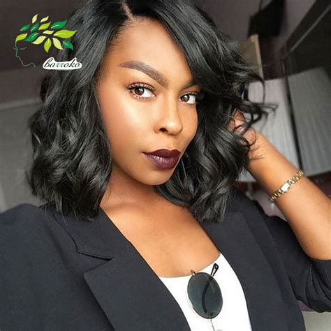 body wave black short hairstyles 8 inch brazilian body wave 100g human hair weaves 2016