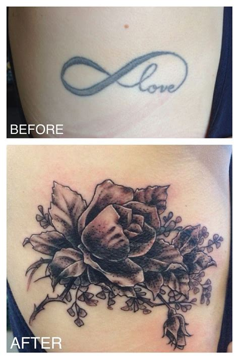 tiffany rose tattoo black and gray cover up by michael