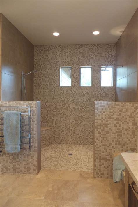 locker room style shower designed  board  board