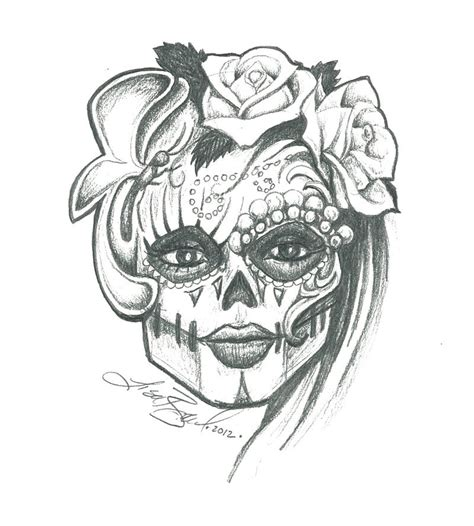 Sugar Skull Tumblr Drawing Loading