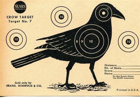 Add Money To A Target Gift Card - vintage shooting target crow ii