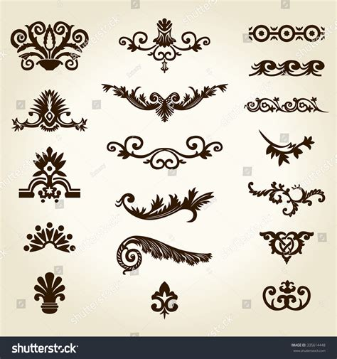 royal design elements vector flower calligraphic vintage royal design elements stock