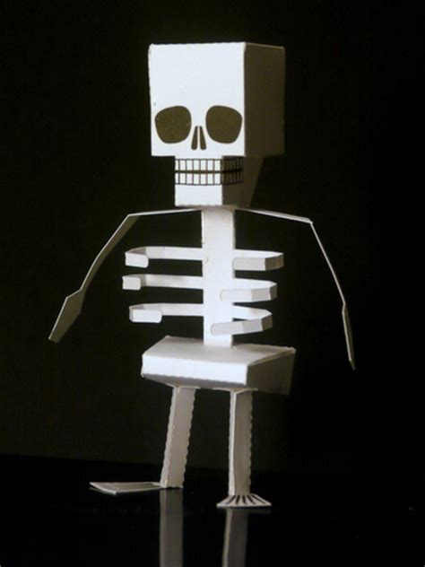 Make Your Own Paper Skeleton - 16 paper crafts decorations activities the