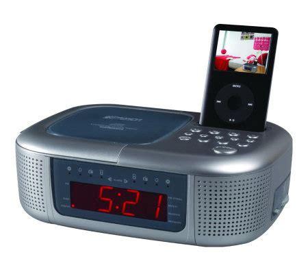 emerson ic2196 ipod dock alarm clock radio page 1 qvc