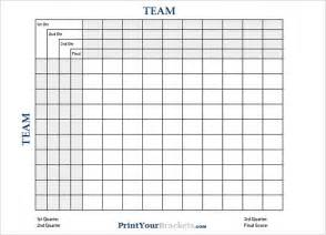 Square Template by Printable Football Square Templates Pdf Creative Template