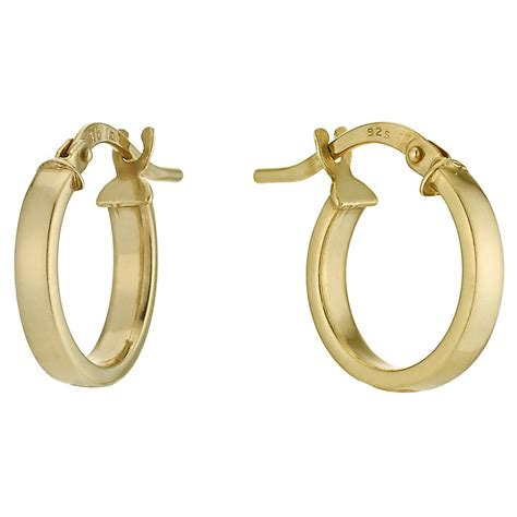 together bonded silver 9ct gold 10mm creole hoop