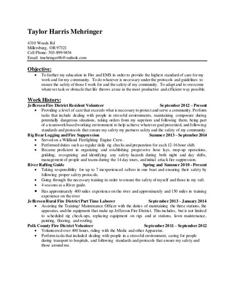 Firefighter Resume by Firefighter Resume Updated March 2015