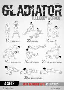 gladiator workout nerdy things fitness