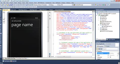 grid layout visual studio 2010 a few tips for working with xaml inside of visual studio