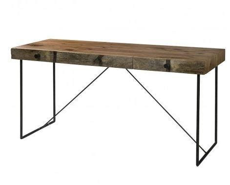 wood desk with metal legs pin by momberg on reclaimed furniture