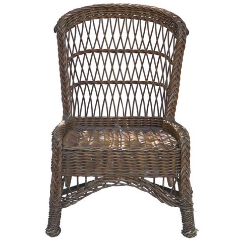 Antique Wicker Chairs by Antique Wicker Side Chair At 1stdibs