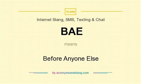 What Does The Acronym Ls Means by Bae Before Anyone Else In Slang Sms Texting