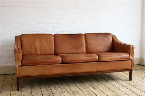 brown tan leather sofa guiden prop hire