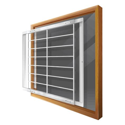 swing away window bars lowes home security window bars 187 shop mr goodbar c 42 in