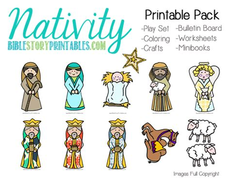 printable nativity scene cutouts christmas preschool printables