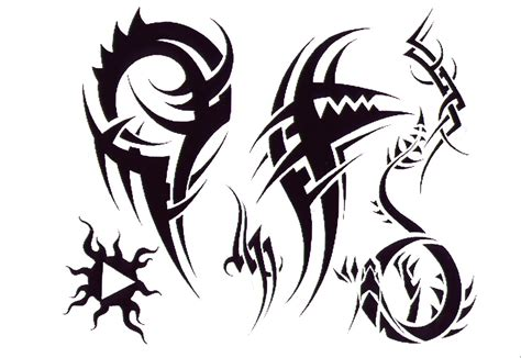 dark tribal tattoos black ink tribal design for
