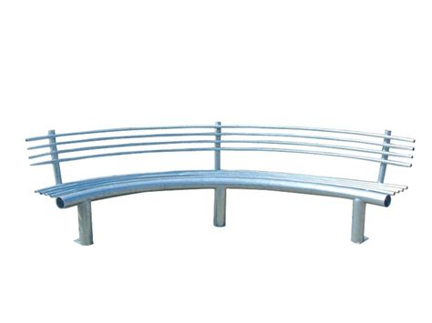 curved bench with back curved metal bench with back curva by lazzari